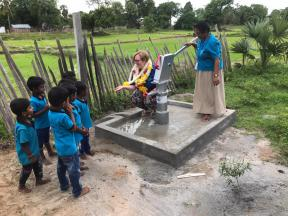 Crookham Junior School's funded well