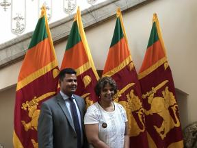 Dilanee at the Sri Lanka High Commission