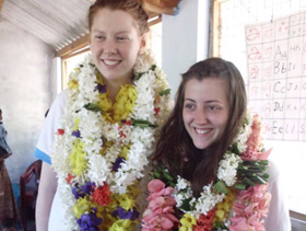 Hayley and Clare in Sri Lanka