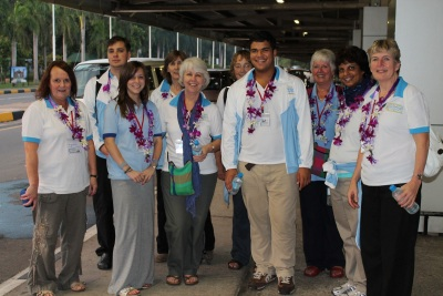 Ocean Stars team at the airport in Sri Lanka