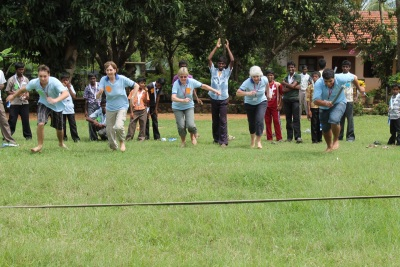 Running races at Grace childrens home