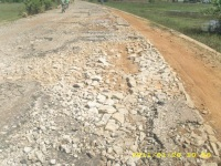 Sri Lanka damaged road bed