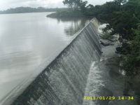 Sri Lanka dam overflowing