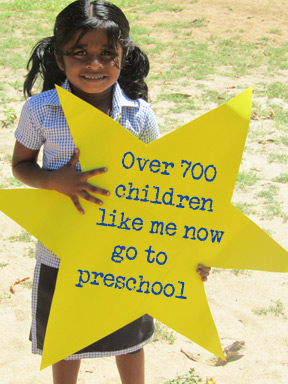 Over 700 children like me go to pre-school