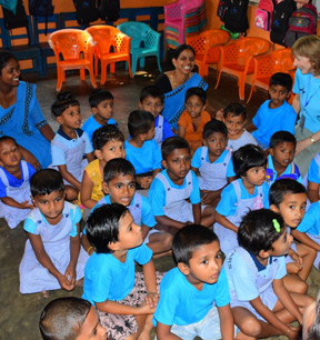 A pre-school group in Sri Lanka