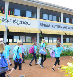 Links between secondary schools in the UK and one in Sri Lanka